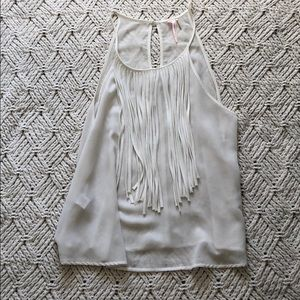 Halter Tank Top with Fringe
